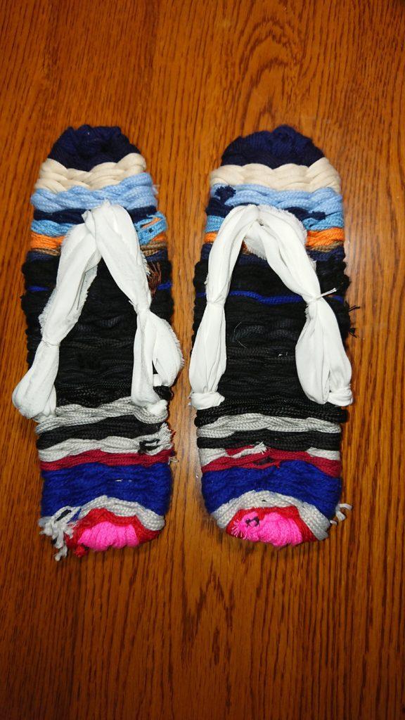 布ぞうりの作り方(自分で作る編み台&芯紐のかけ方)